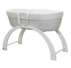 Shnuggle Dreami Moses Basket Grey with Stand