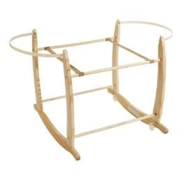 Deluxe Rocking Moses Basket Stand Natural