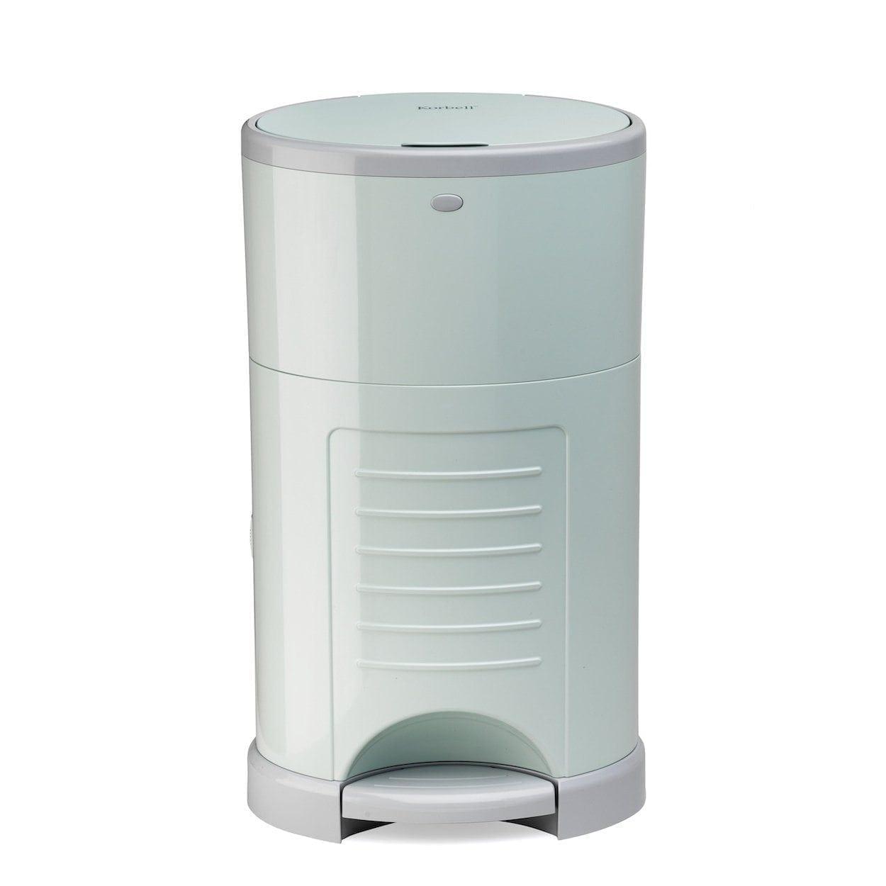 Korbell-16-litre-nappy-bin-mint-green-front