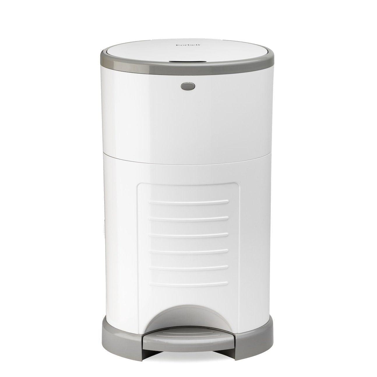 Korbell-16-litre-nappy-bin-white-front