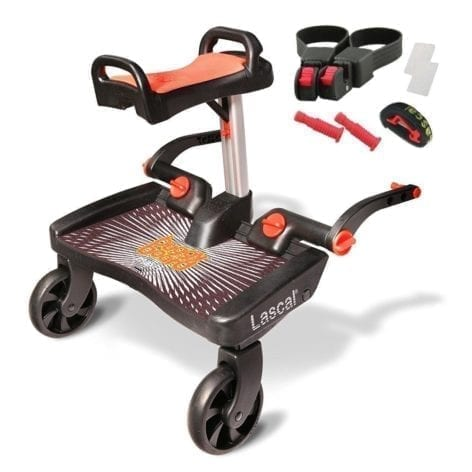 Lascal Maxi Plus Buggy Board Red Seat