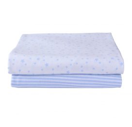 Stars and Stripes Moses Basket Sheets Blue