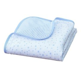 Stars and Stripes Cot Blanket Blue