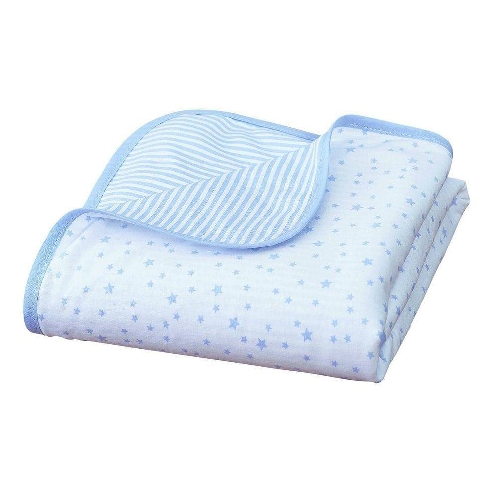 Stars and Stripes Pram Blanket Blue
