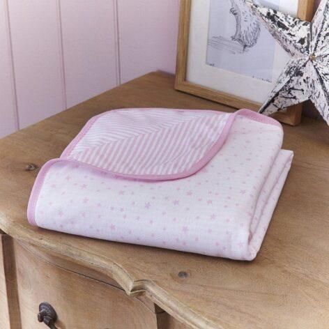 clair-de-lune-stars-stripes-blanket-pink-lifestyle