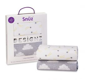 Snuz Designz Moses Basket Sheets Cloud Nine