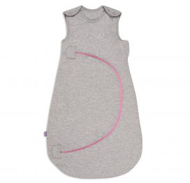 SnuzPouch Baby Sleeping Bag Grey Pop Pink