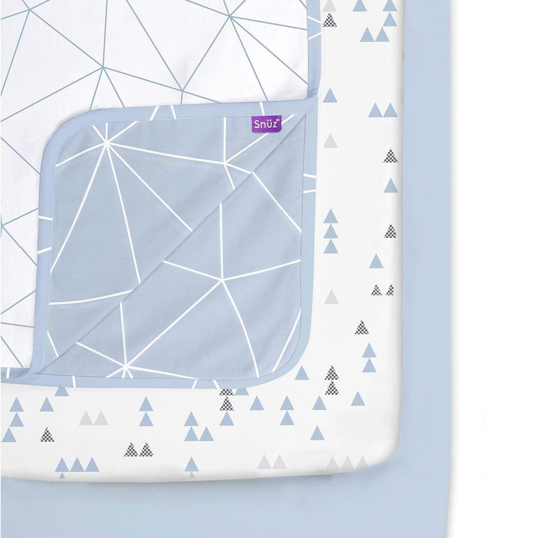 Snuz Designz Crib Bedding Set Breeze Geo