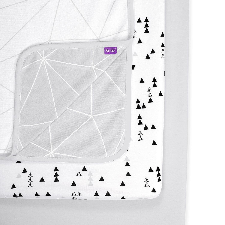 Snuz Designz Crib Bedding Set Mono Geo