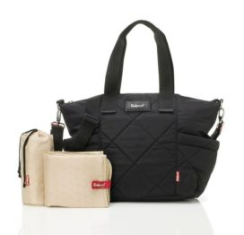 Babymel Evie Quilted Black Baby Changing Bag