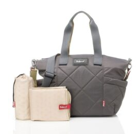 Babymel Evie Quilted Grey Baby Changing Bag