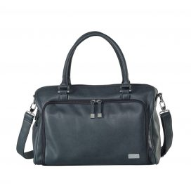 Isoki Double Zip Satchel Tote Charcoal