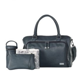 isoki-double-zip-satchel-tote-baby-changing-bag-balmain-charcoal-with-accessories