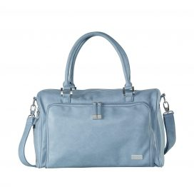 Isoki Double Zip Satchel Tote Eden Blue