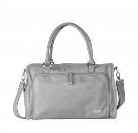 Isoki Double Zip Satchel Tote Grey