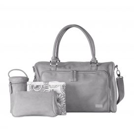 isoki-double-zip-satchel-tote-baby-changing-bag-portsea-grey-with-accessories
