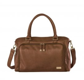 Isoki Double Zip Satchel Tote Redwood