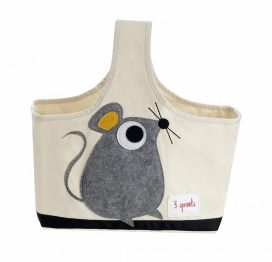 3 Sprouts Storage Caddy Grey Mouse