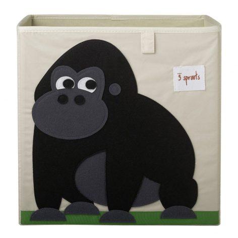 3 Sprouts Storage Box Black Gorilla