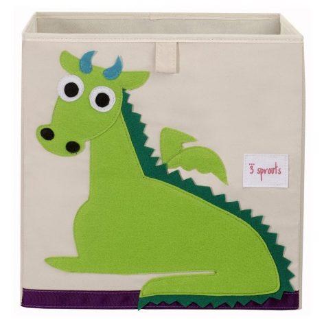 3 Sprouts Storage Box Green Dragon