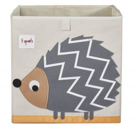 3 Sprouts Storage Box Grey Hedgehog