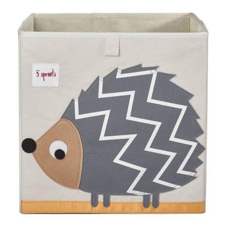 3 Sprouts Storage Box Grey Hedgehog