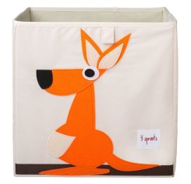 3 Sprouts Storage Box Orange Kangaroo