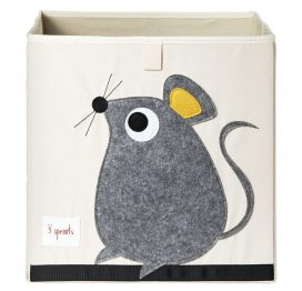 3 Sprouts Storage Box Grey Mouse