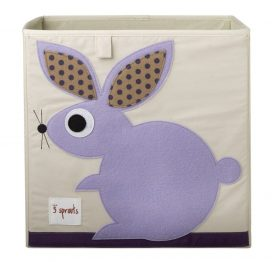 3 Sprouts Storage Box Purple Rabbit