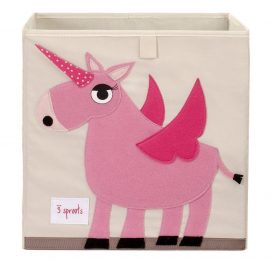 3 Sprouts Storage Box Pink Unicorn