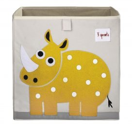 3 Sprouts Storage Box Yellow Rhino