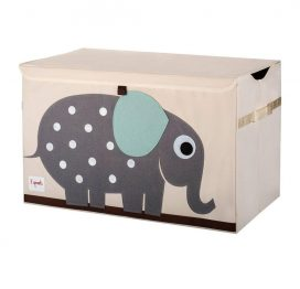 3 Sprouts Toy Chest Grey Elephant