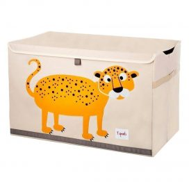 3 Sprouts Toy Chest Orange Leopard