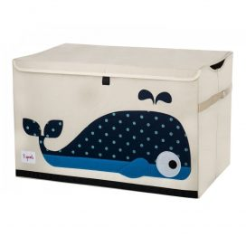 3 Sprouts Toy Chest Blue Whale