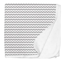 Silly Billyz Pram Blanket Grey Chevron