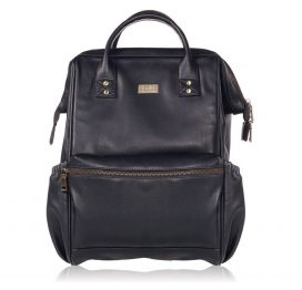 Isoki Elliot Backpack Changing Bag Toorak Black