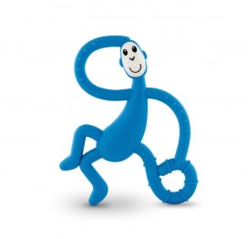 Dancing Matchstick Monkey Teether Toy Blue