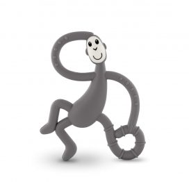 Dancing Matchstick Monkey Teether Toy Grey