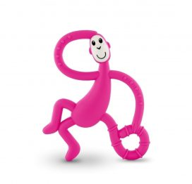 Dancing Matchstick Monkey Teether Toy Pink