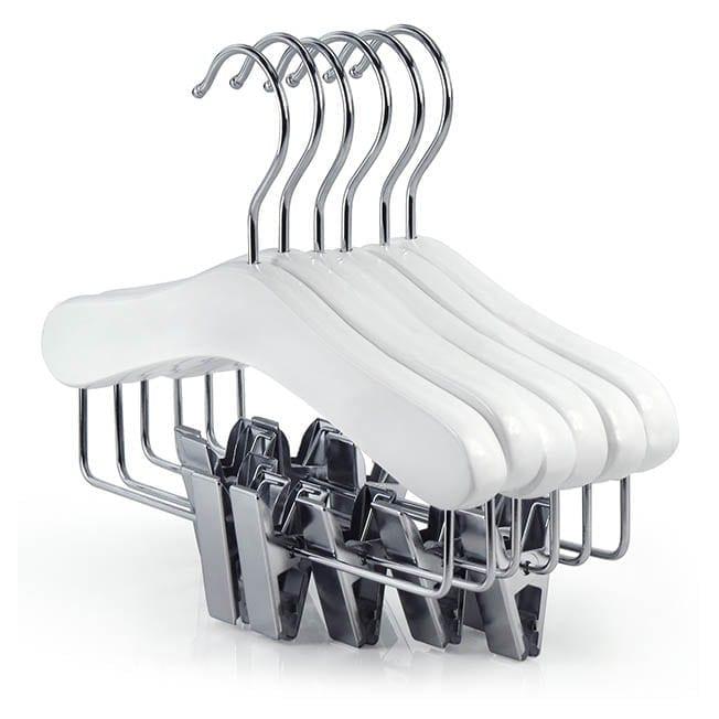 White Wooden Baby Clip Hangers
