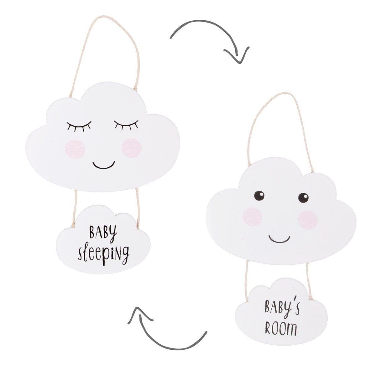 Cloud Baby Room Plaque