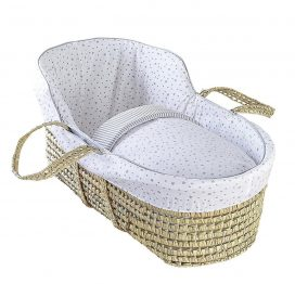High Top Palm Moses Basket Grey Stars