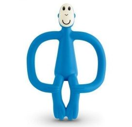 Matchstick Monkey Teether Toy Blue