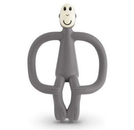 matchstick monkey teether toy grey