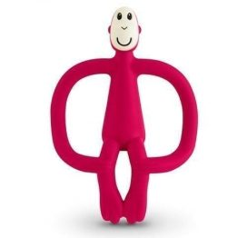 Matchstick Monkey Teether Toy Rubine