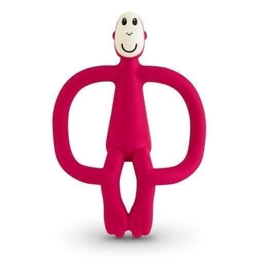 Matchstick Monkey Teether Toy Rubine