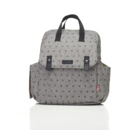 Babymel Robyn Convertible Backpack Grey Origami Heart