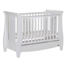 Katie Cot Bed White As Cot (No Mattress) – White Cutout