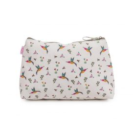 Pink Lining Wash Bag Hummingbird