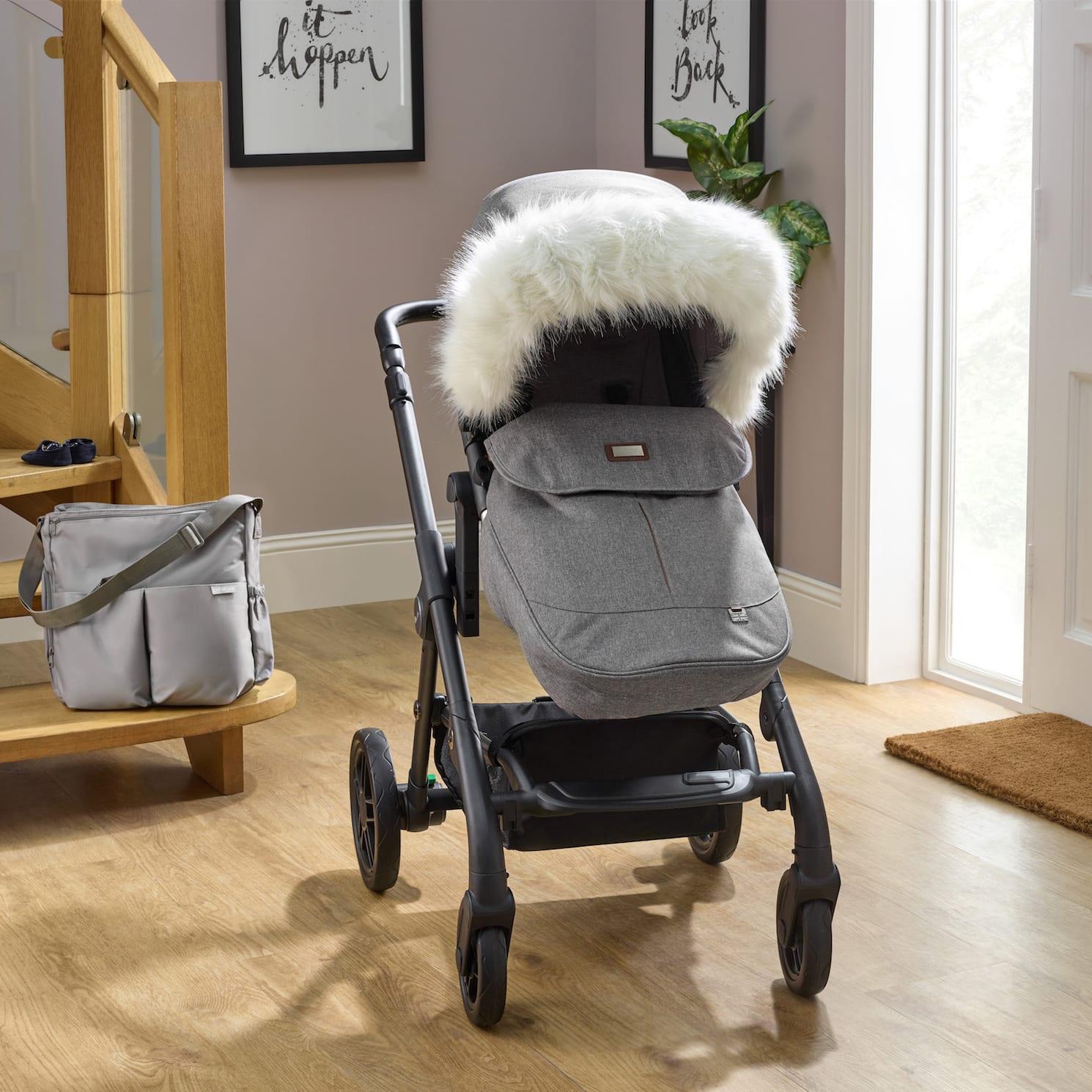 Silver cross Bugaboo,Quinny Pushchair Pram Faux Fur Hood trim for Icandy